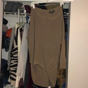 Tunic sweater from express in a dark grey color